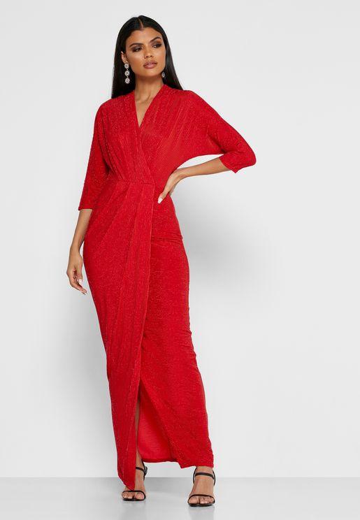 Drape Wrap Dress
