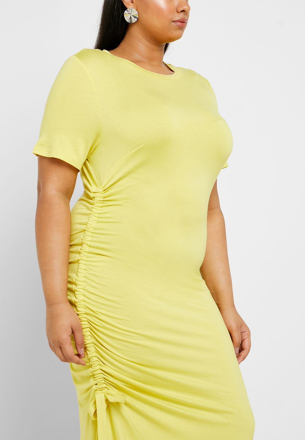 Side Ruched T-Shirt Dress