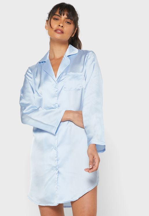 Satin Shirt Nightdress