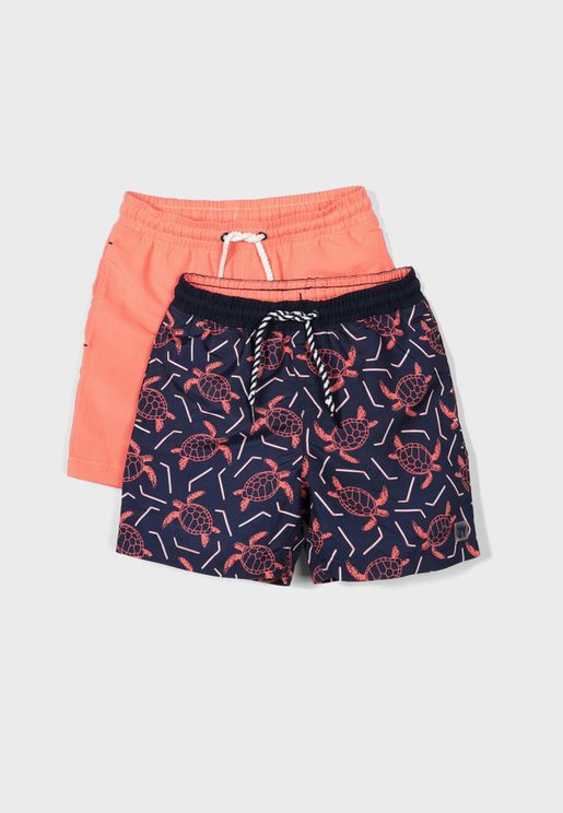 Kids 2 Pack Printed Shorts