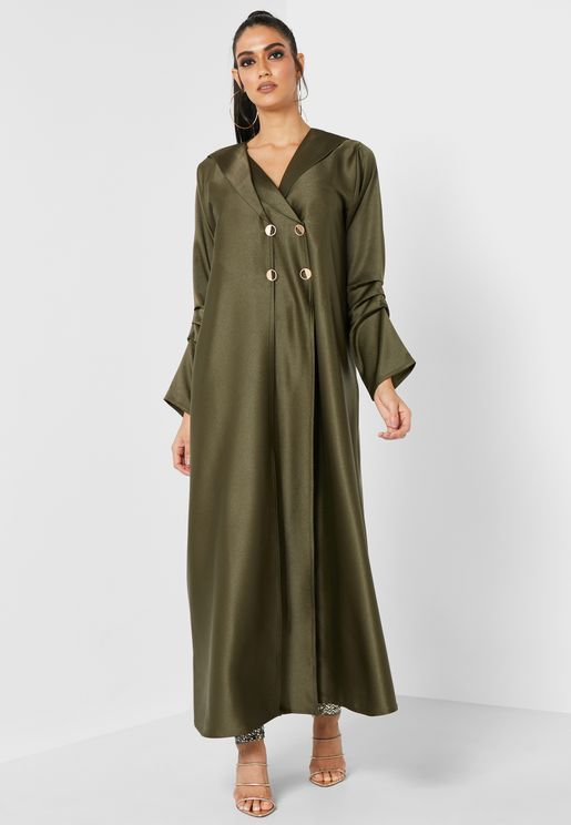 Zaytoona Pleated Sleeve Abaya