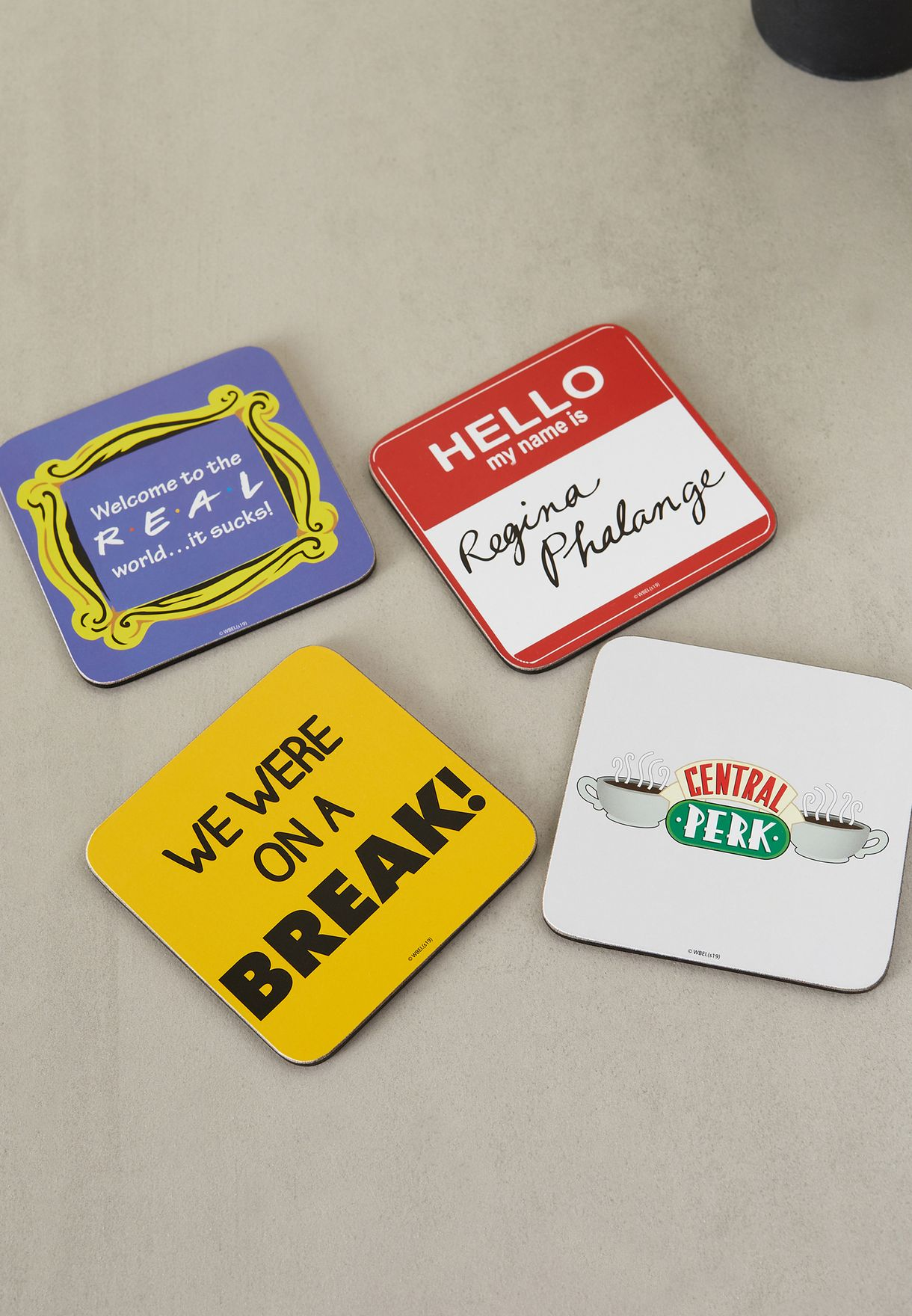 Set Of 4 Friends Quotes Coasters