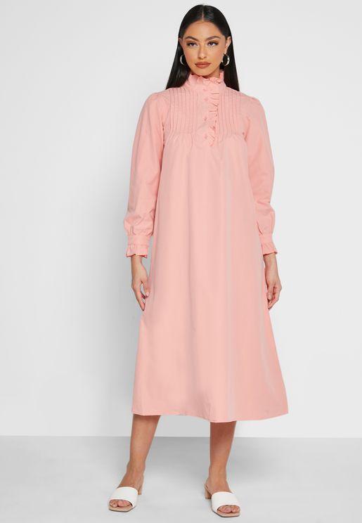 Pin-tuck Detail Dress