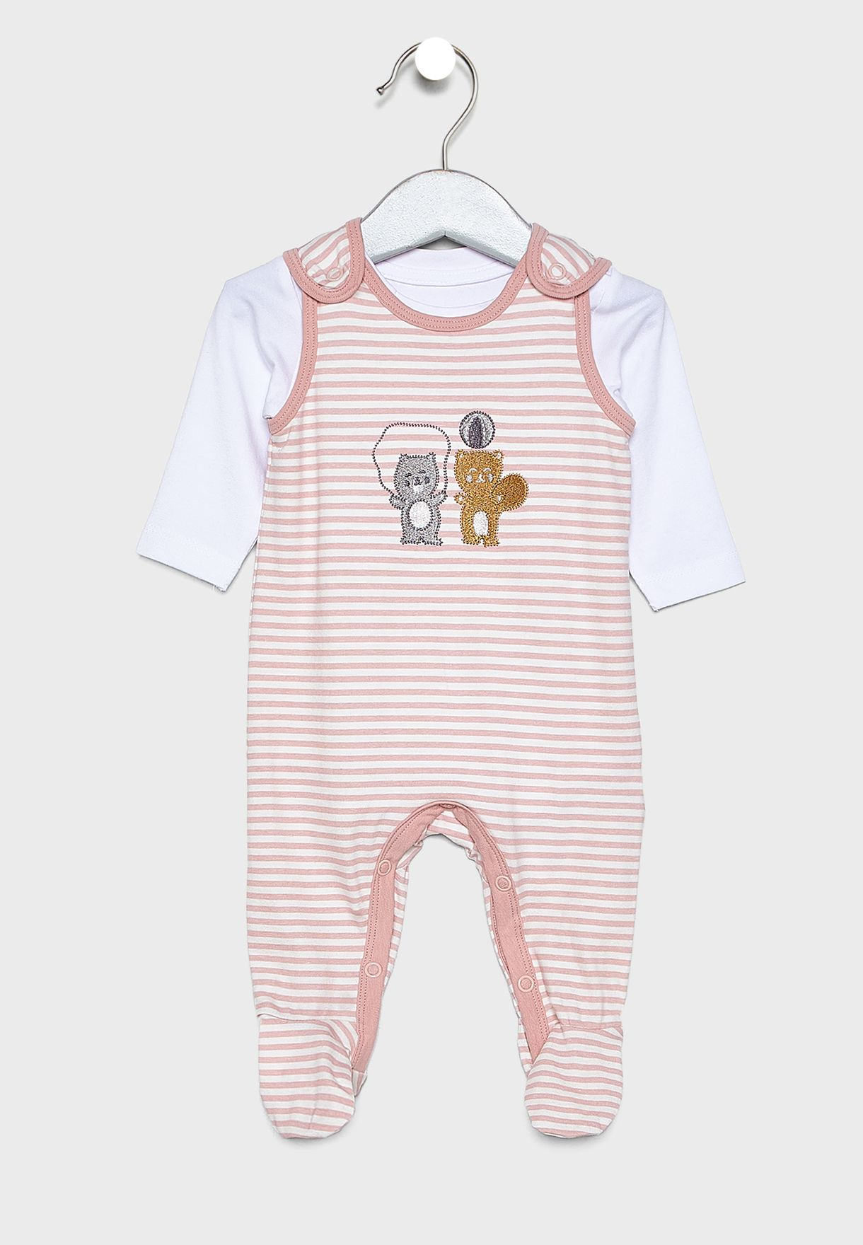 Infant Striped bodysuit set