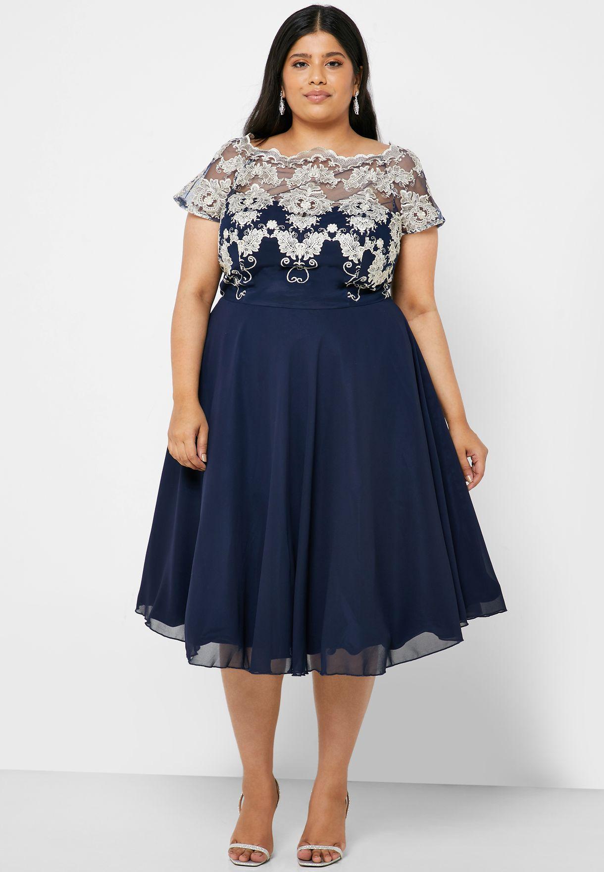 فستان دانتيل شبكي