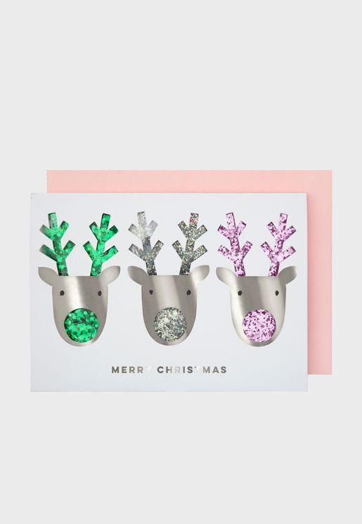 Reindeer Shaker Christmas Card