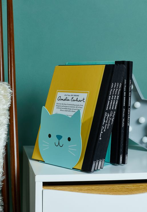 Set Of 2 Cookie The Cat Bookends