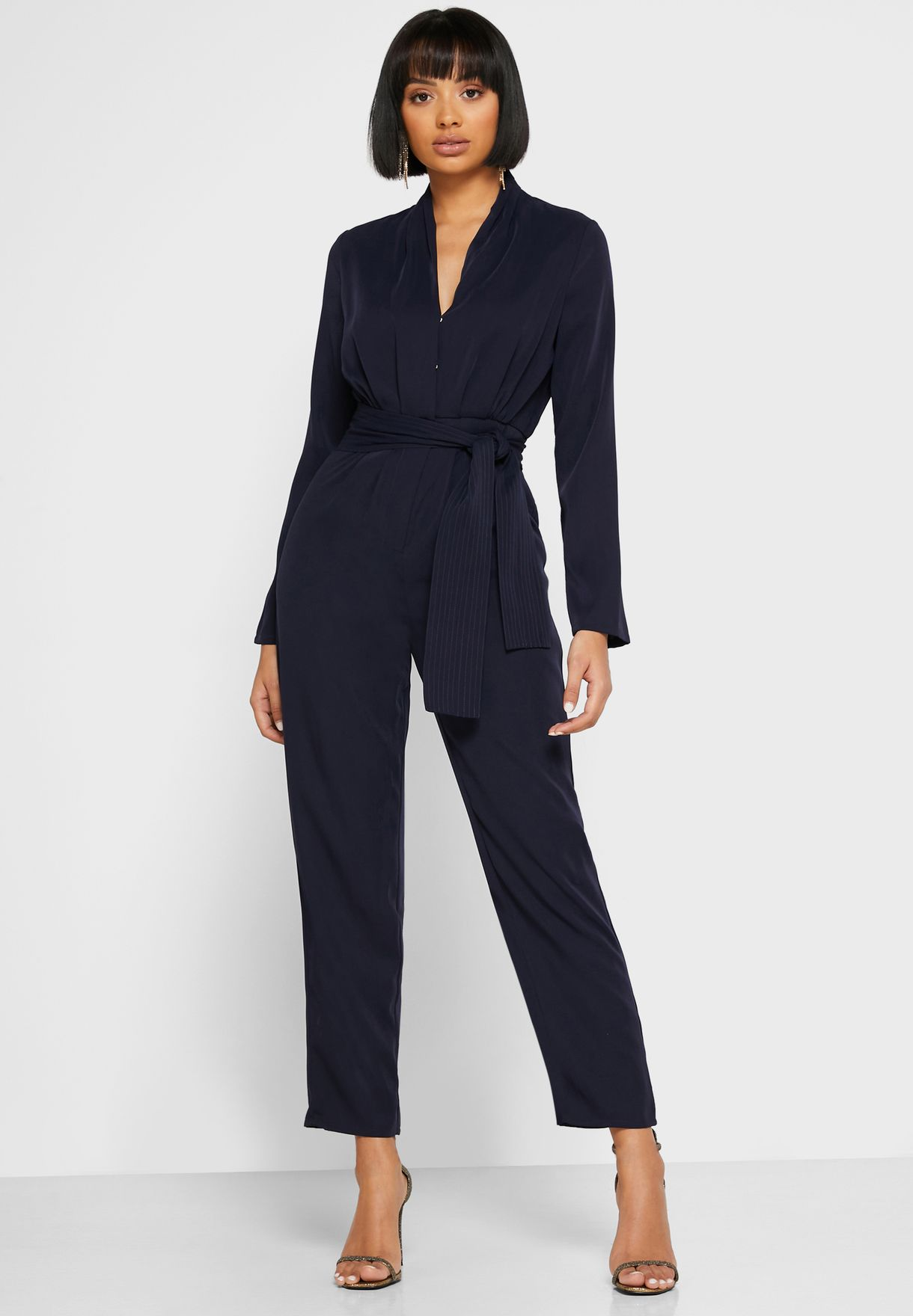 Self Tie Wrap Jumpsuit