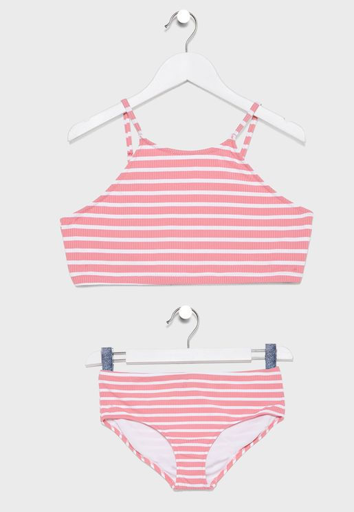 Kids Striped Swim Set