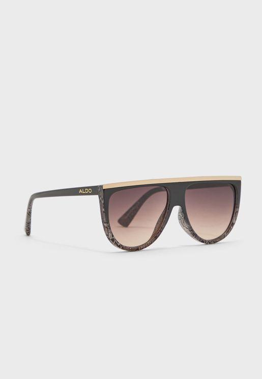 نظارة شمسية بطبعات جلد افعى