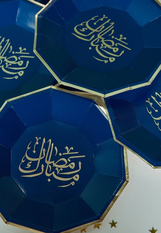 8 Pack Ramadan Calligraphy Plate