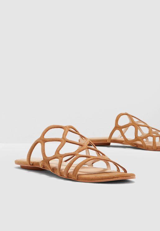 4a730935ff5b Namshi Online Shopping in UAE. Alyssa Leather Sandal
