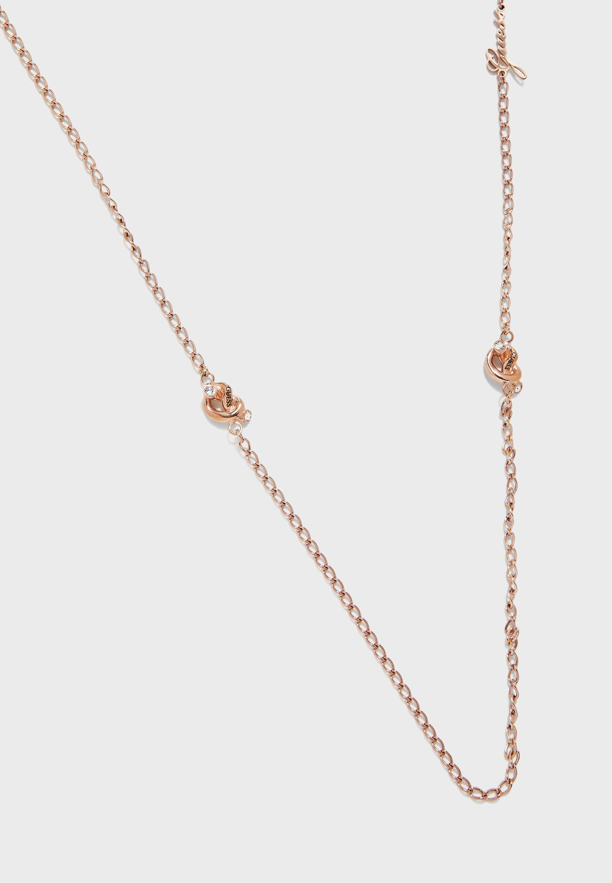 Small Chain Knot Necklace