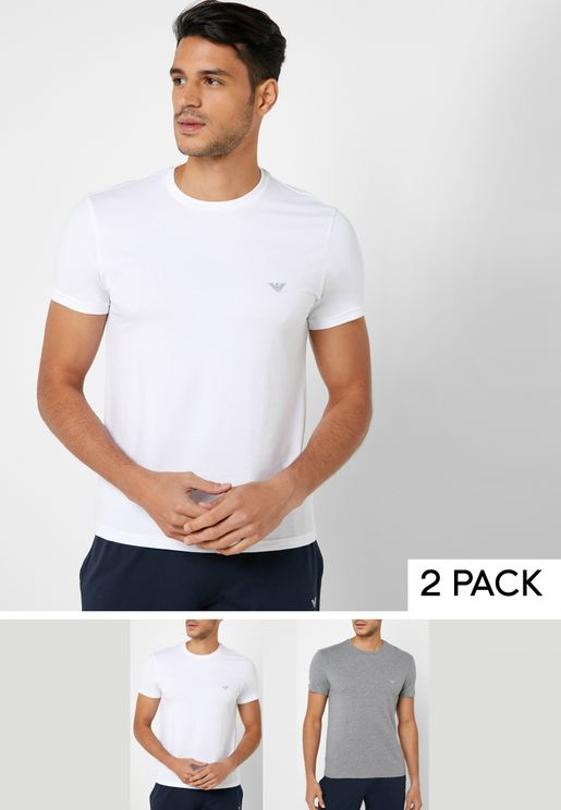 2 Pack Crew-Neck T-Shirts