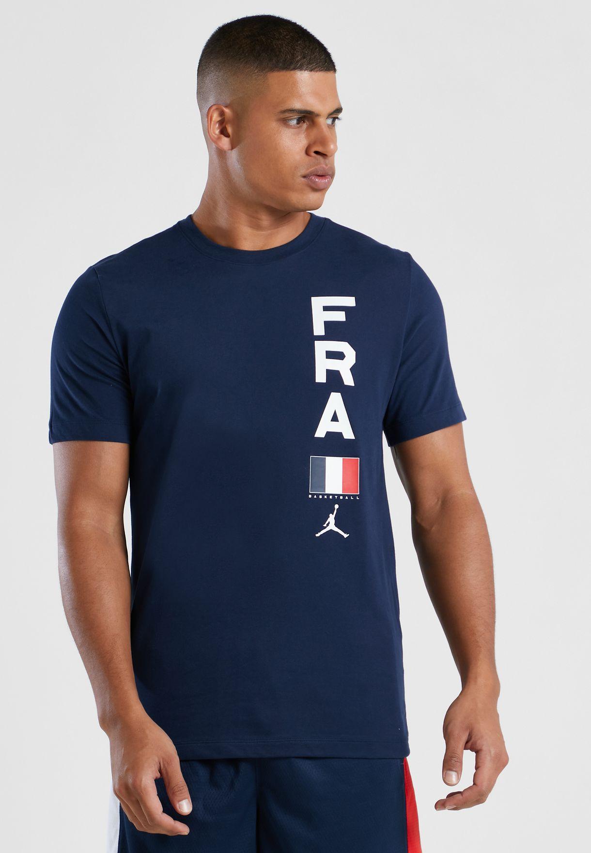 تيشيرت بشعار فريق فرنسا لكرة السلة