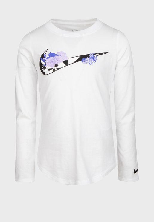 Kids Tokyo Floral Swoosh T-Shirt