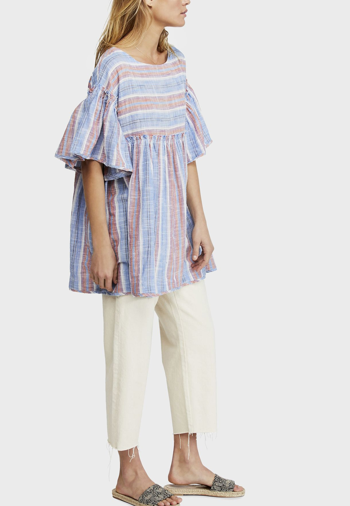 Summer Nights Striped Flared Top