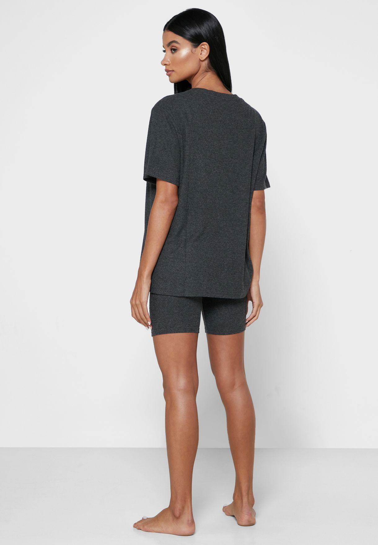 Lillie Lounge Oversized T-Shirt & Shorts Set
