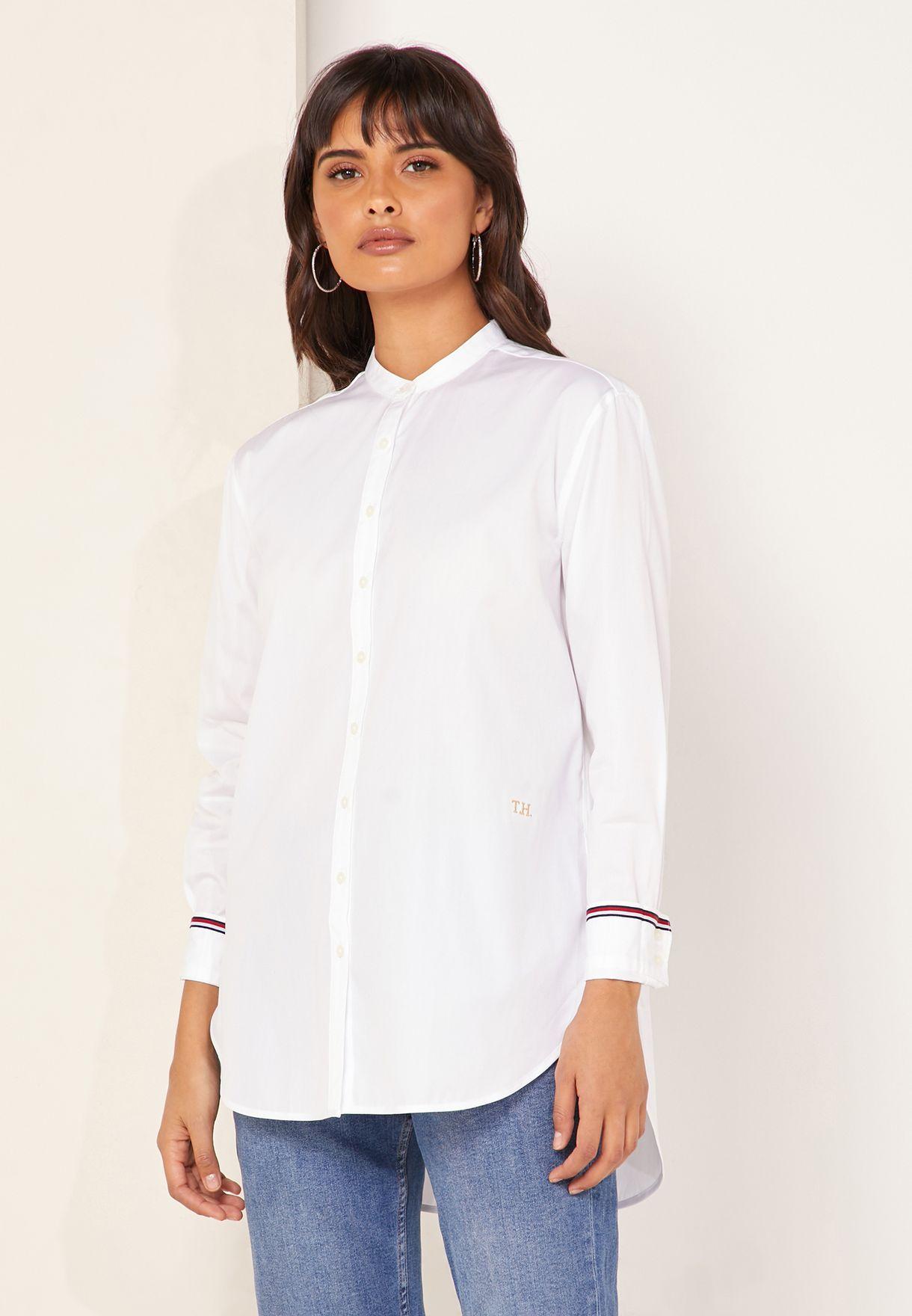 tommy hilfiger white shirt women