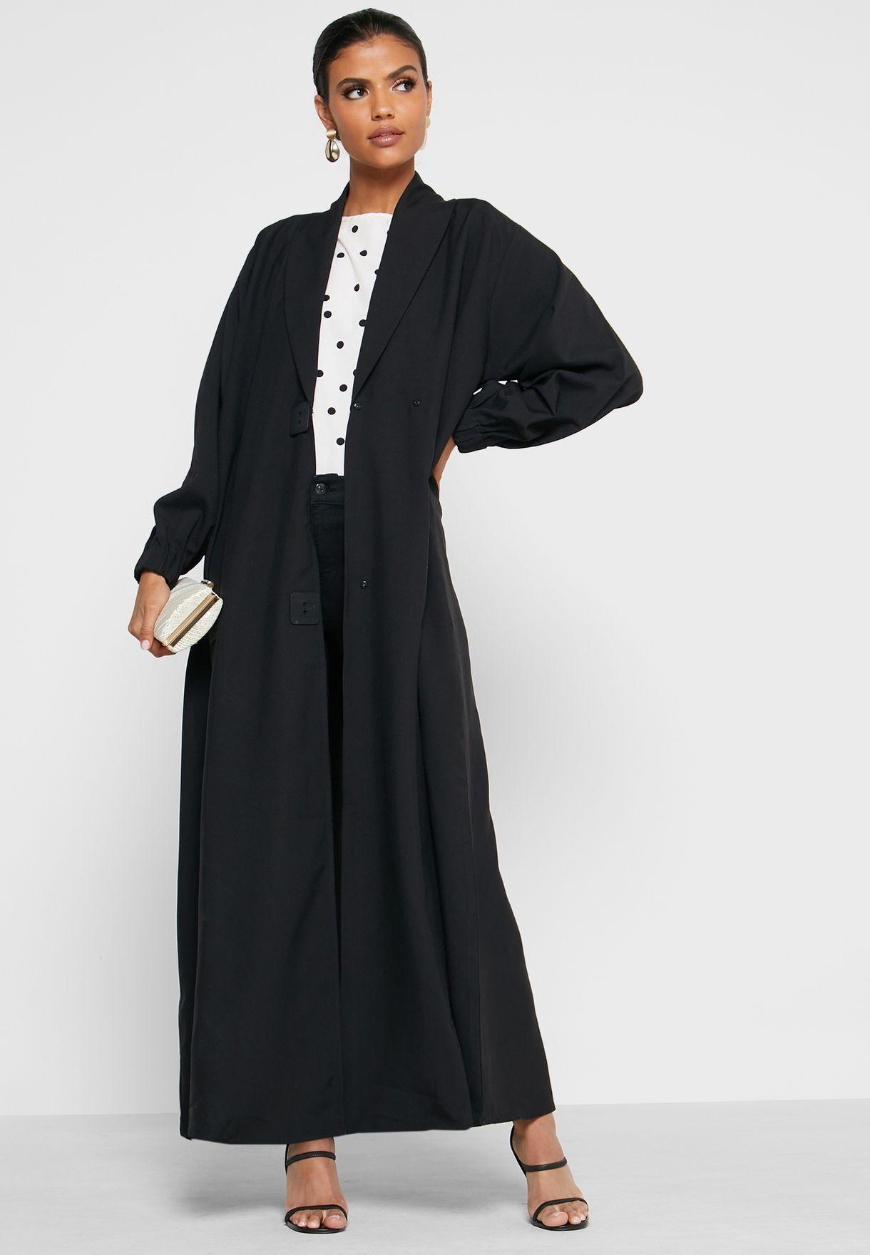 عباية بنمط معطف