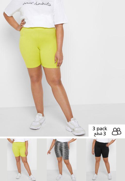 3 Pack Cycling Shorts