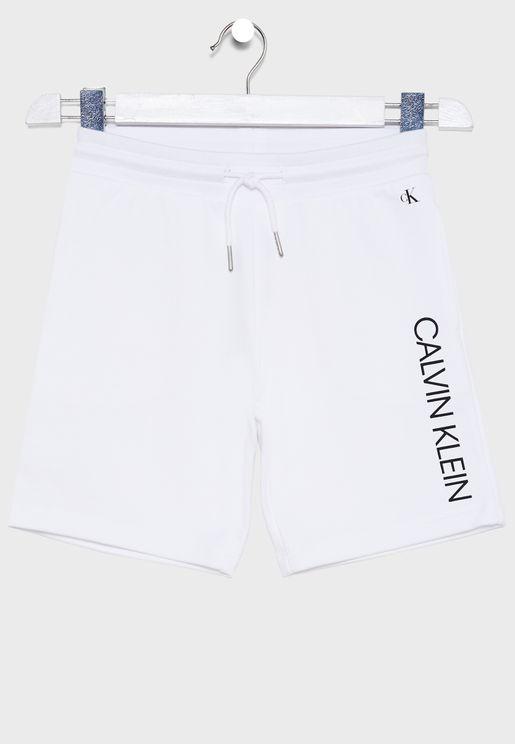 Kids Logo Printed Shorts