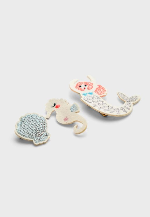 Kids 3 Pack Mermaid Pin On Brooches