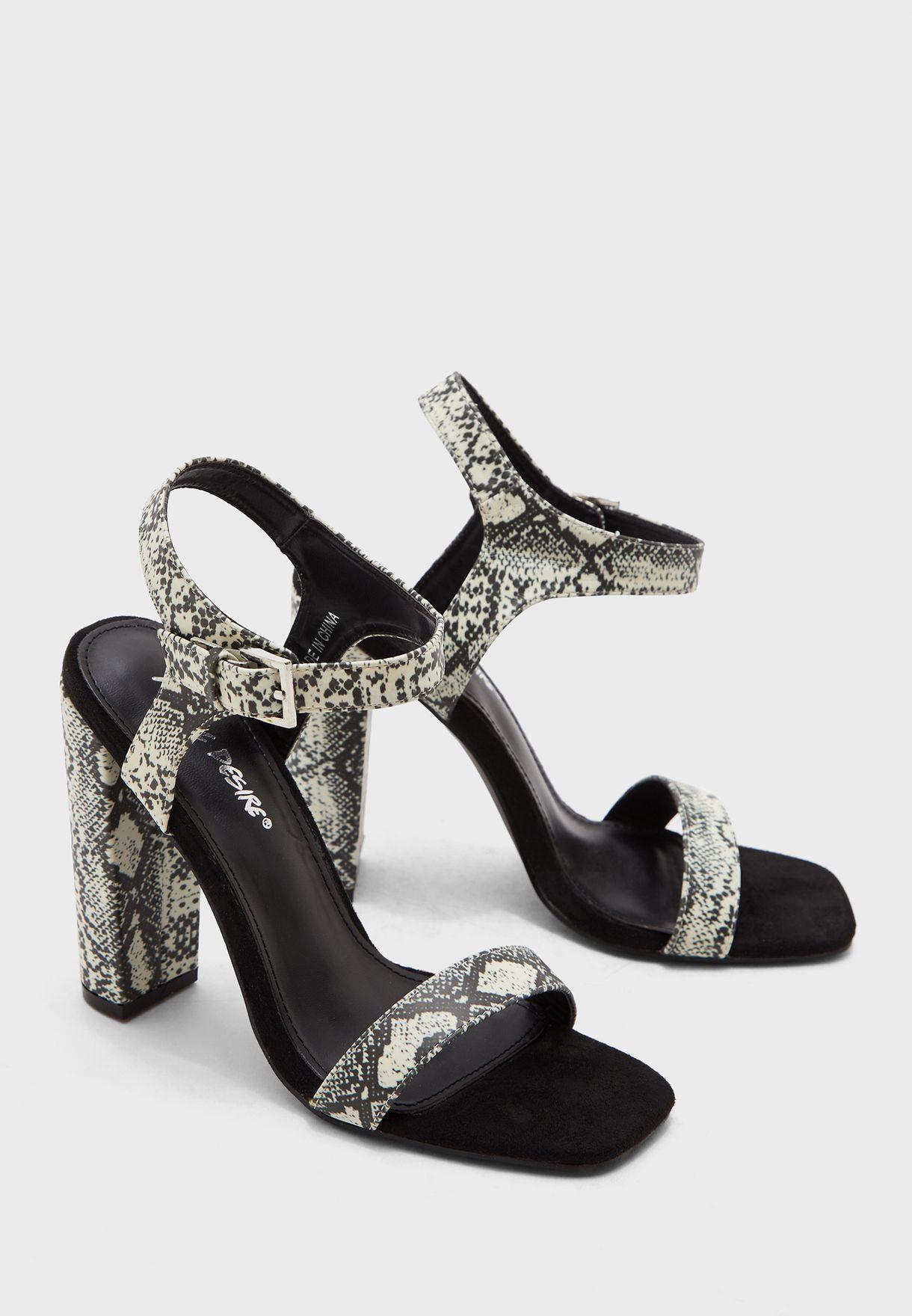 Meteor Ankle Strap Sandal - Snakeskin