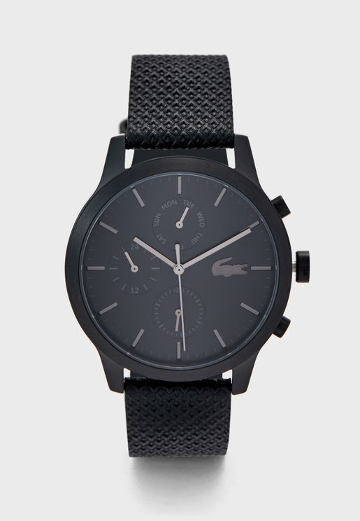 2010997 Leather Strap Analog Watch