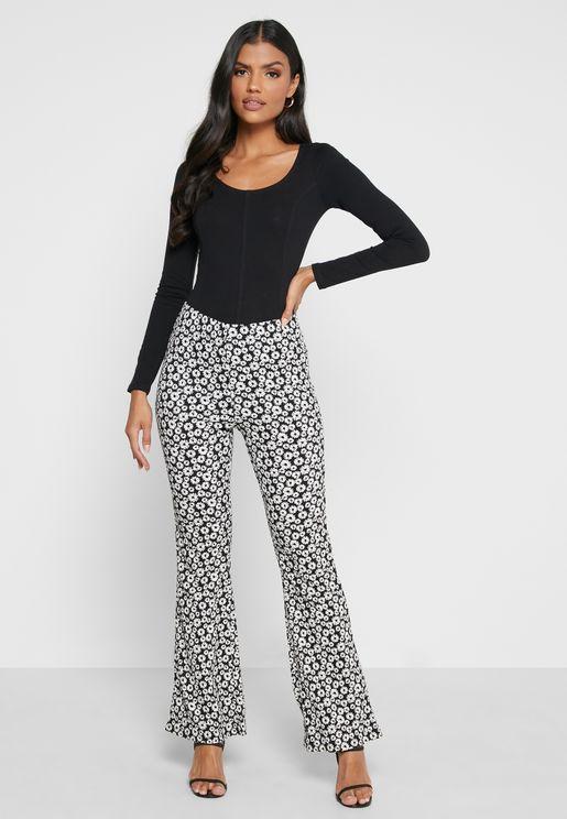 Printed Flared Pants