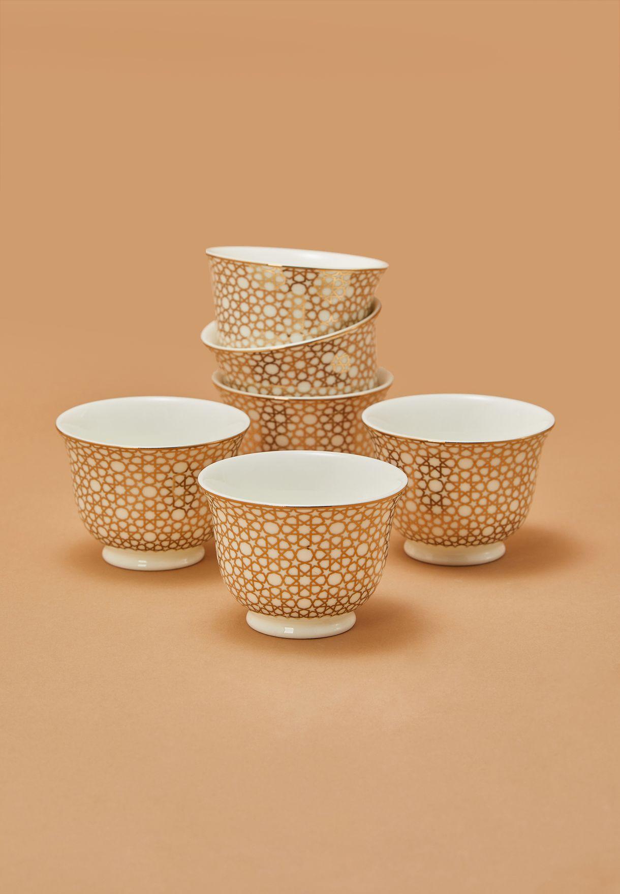 طقم قهوة من 6 فناجين