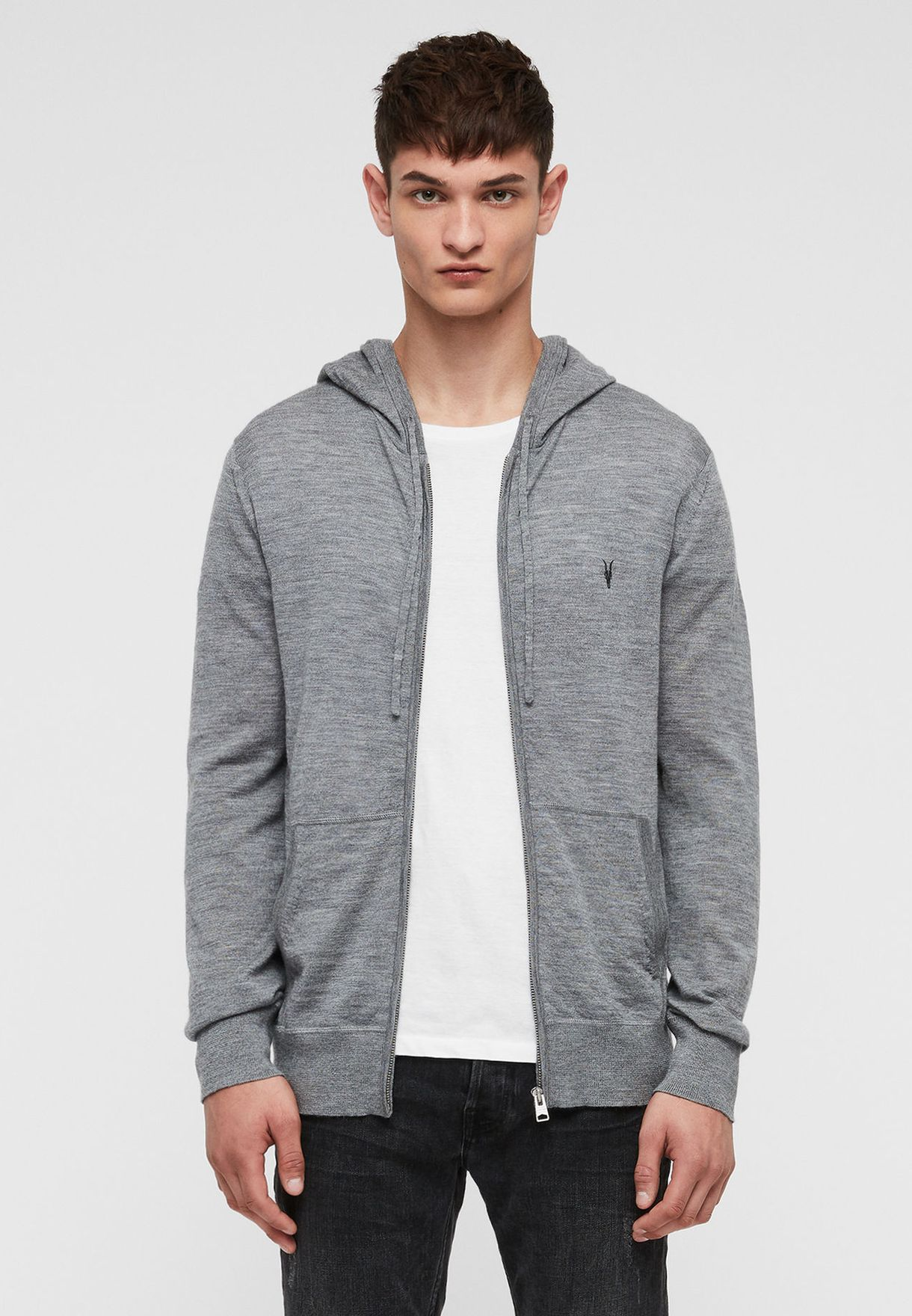 Mode Merino Zip Through Hoodie