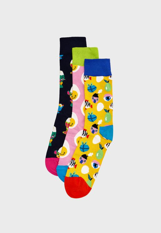 3 Pack Easter Crew Socks