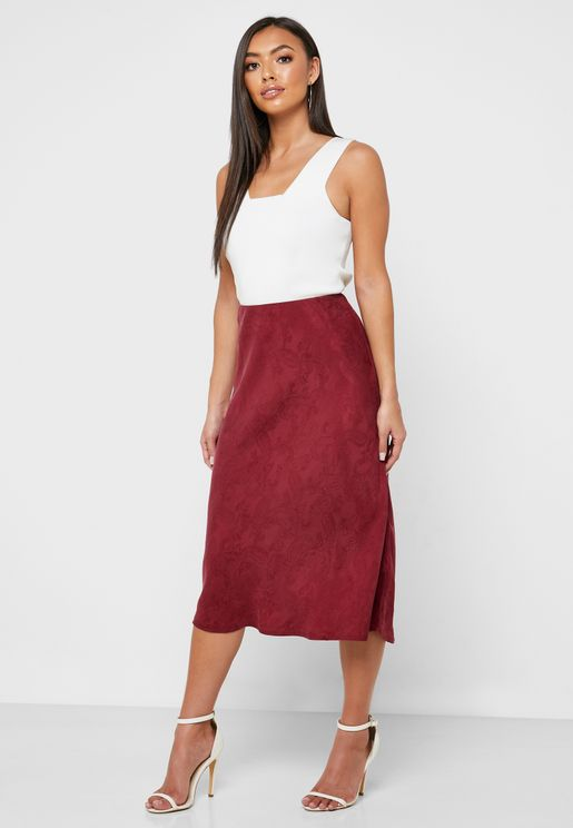 Jacquard Midi Skirt