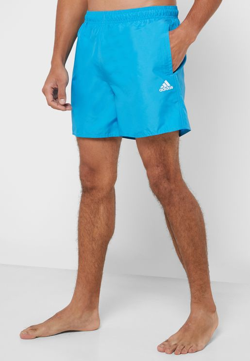 Logo Solid Swim Shorts