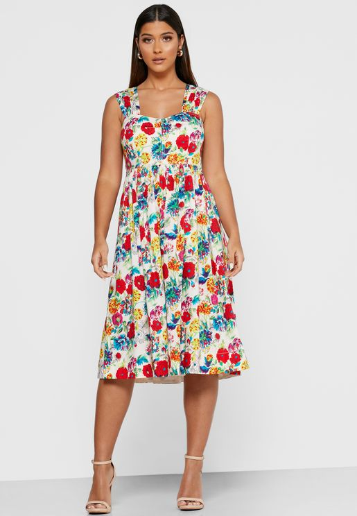 Dr Seydoux Square Neck Skater Dress