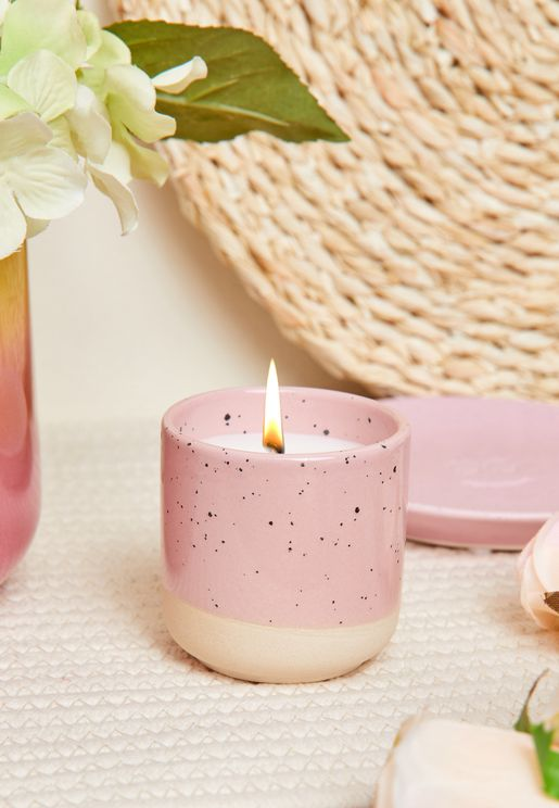 Vanilla Woods Speckle Oasis Candle