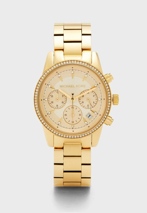 Ritz Gold-Tone Analog Watch