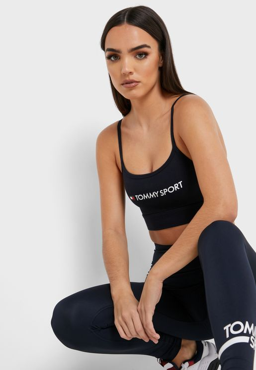 Logo Low Support Bra
