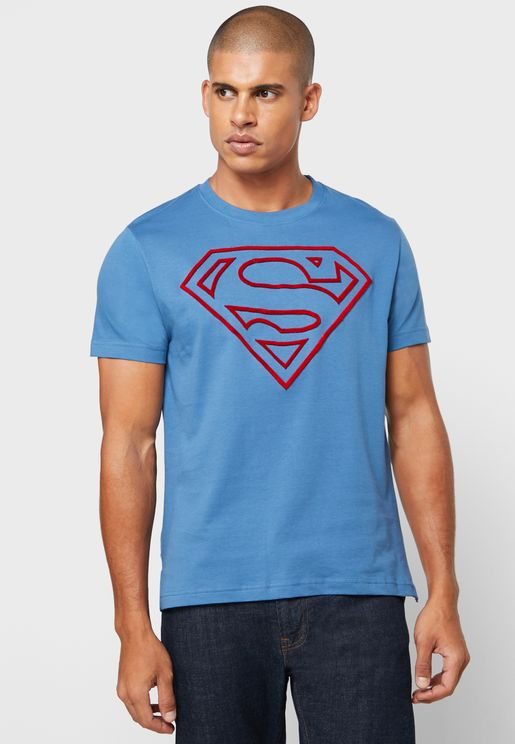 Superman Logo Crew Neck T-Shirt