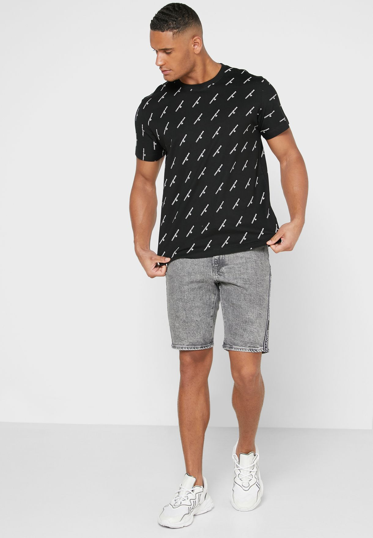 Logo Print Crew Neck T-Shirt