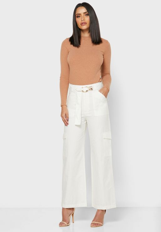 Detailed Drawstring Pants