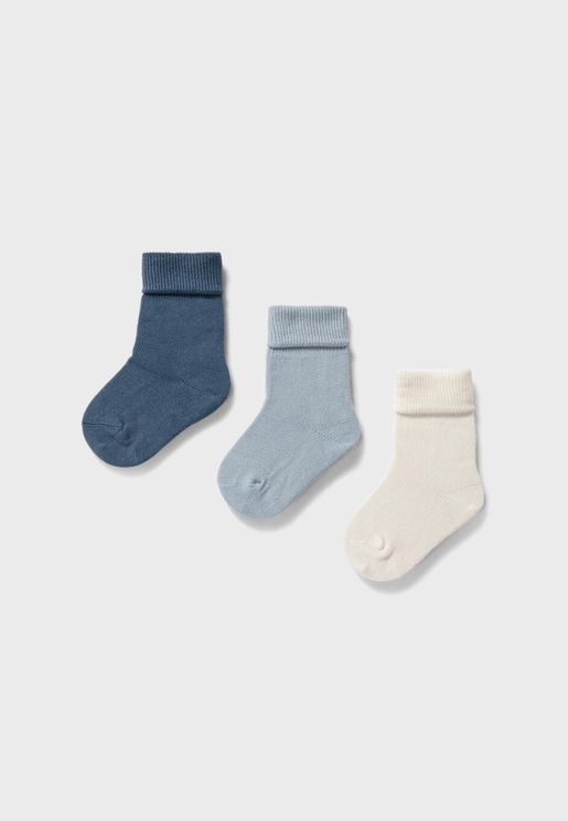 Infant 3 Pack Assorted Socks