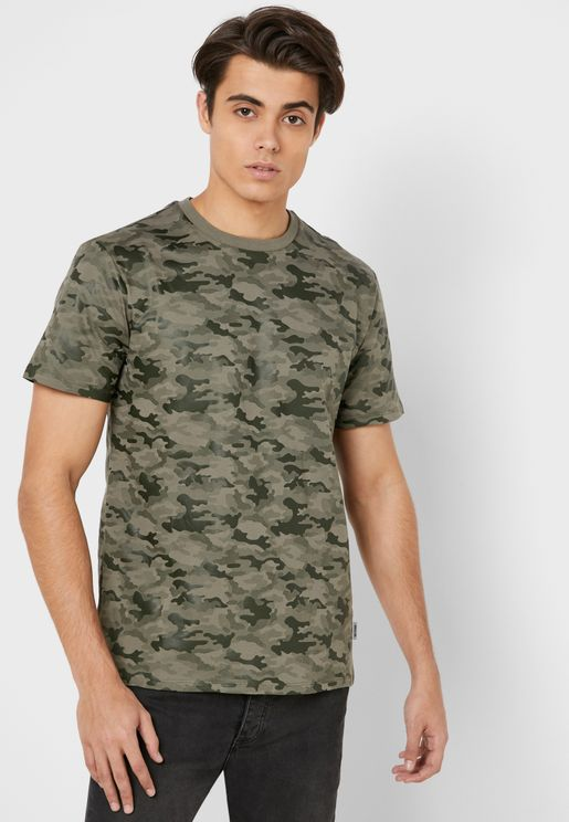 Haruki Camo Crew Neck T-Shirt