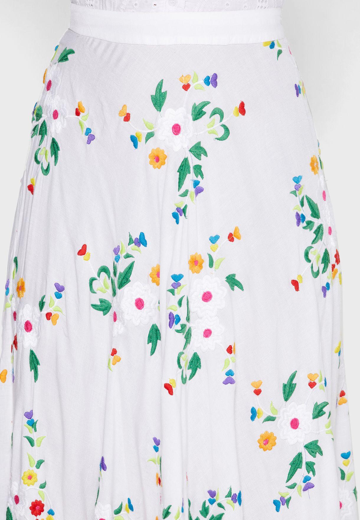 Nadia Floral Print Maxi Skirt