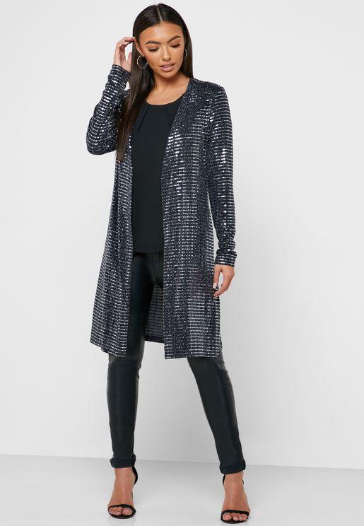 Shimmer Longline Jacket