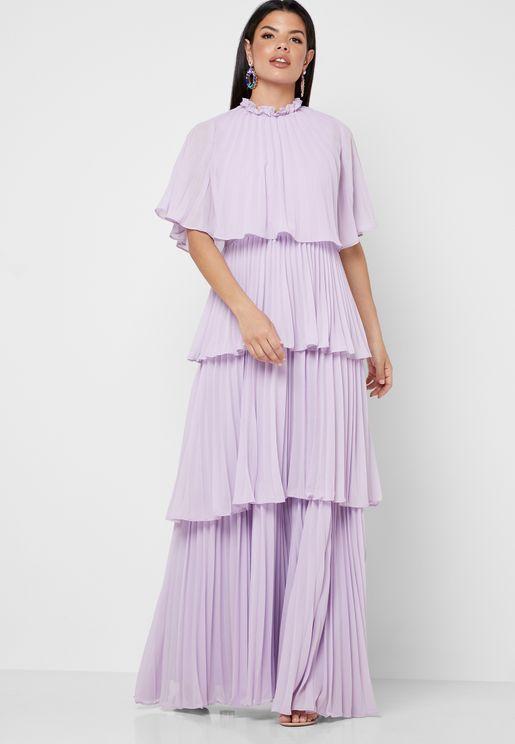 فستان ماكسي بطبقات