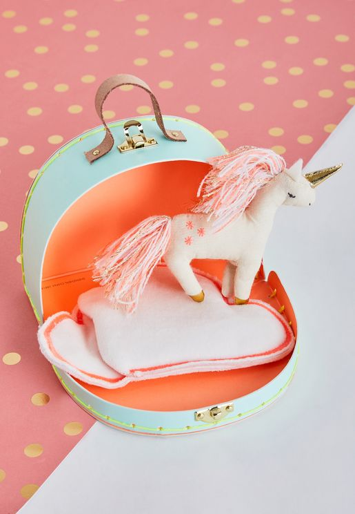 Mini Unicorn Suitcase and Toy
