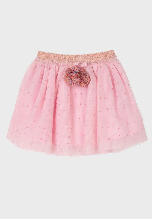 Infant Pom Pom Skirt