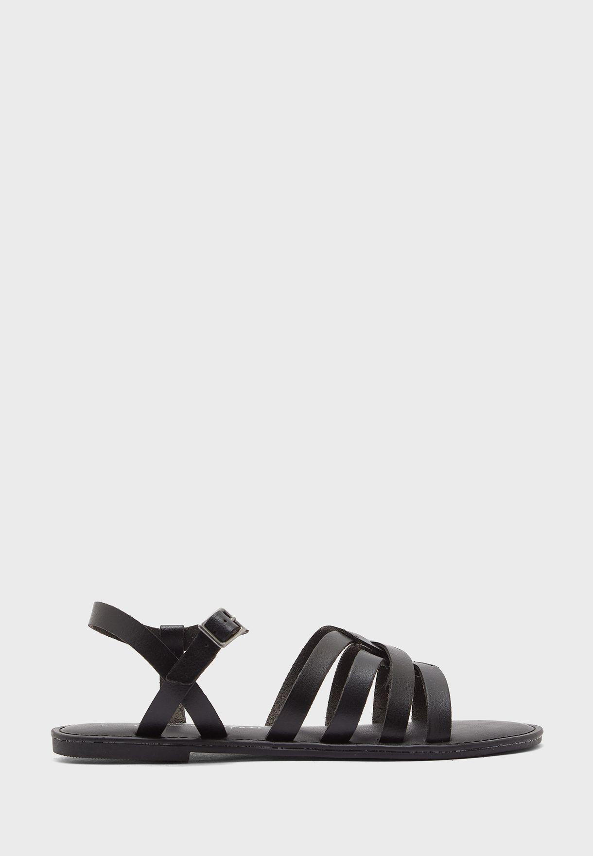 Multi Strap Flat Sandals